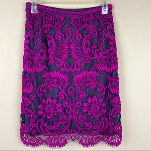 Anthropologie Yoana Baraschi embroidered skirt 2